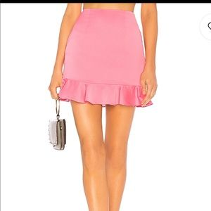 Revolve pink skirt